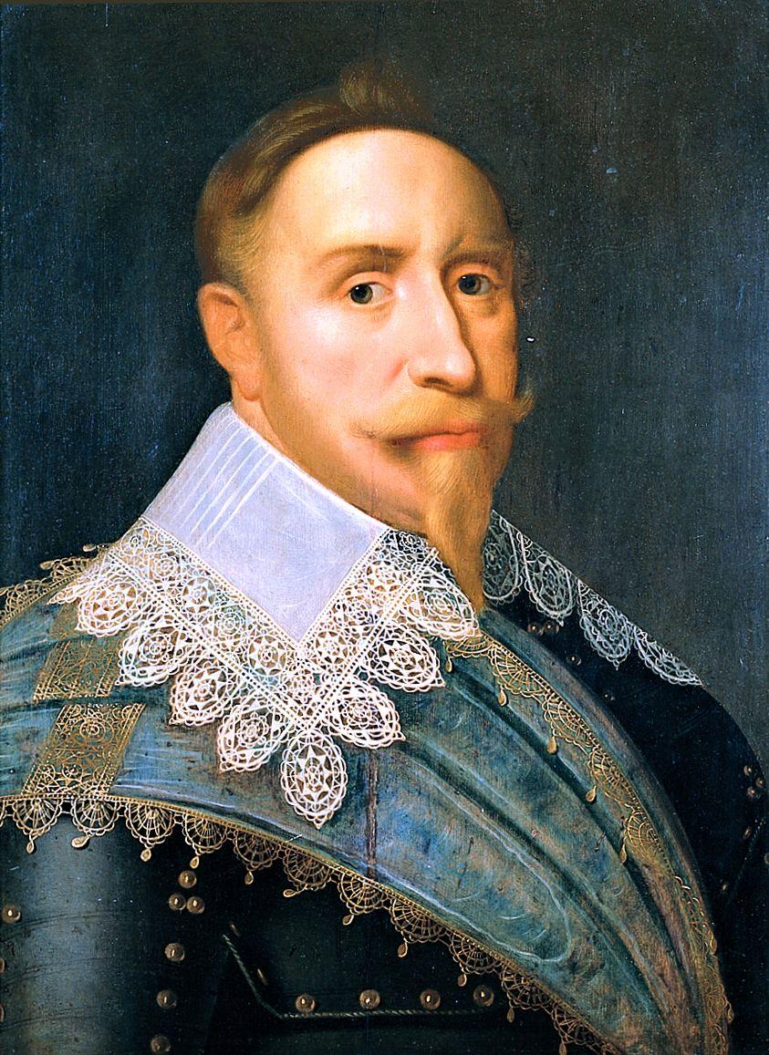 Porträtt av Gustav II Adolf, 1624 Hofnaegel